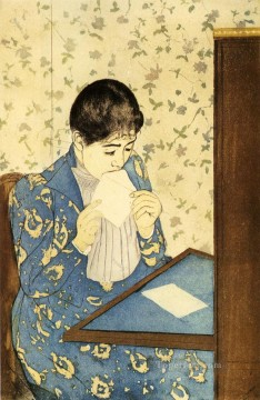 Mary Cassatt Painting - The Letter mothers children Mary Cassatt