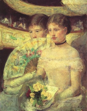 Mary Cassatt Painting - The Loge mothers children Mary Cassatt