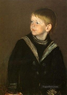 Mary Cassatt Painting - The Sailor Boy Gardner Cassatt mothers children Mary Cassatt