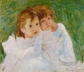 The Sisters mothers children Mary Cassatt