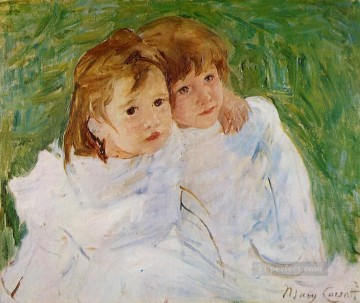 Mary Cassatt Painting - The Sisters mothers children Mary Cassatt