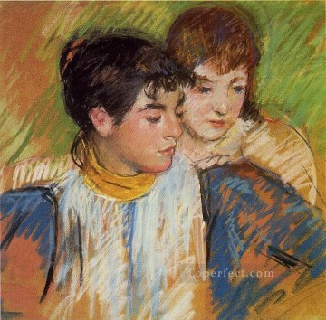 Mary Cassatt Painting - The Two Sisters mothers children Mary Cassatt