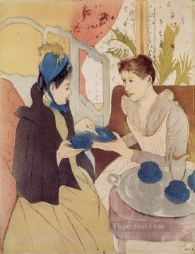 Mary Cassatt Painting - The Visit mothers children Mary Cassatt