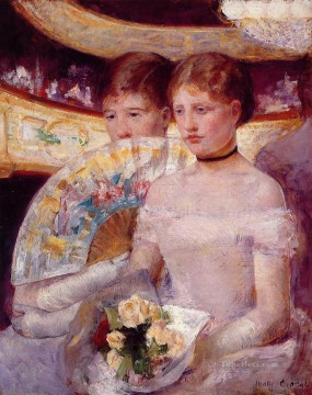 Mary Cassatt Painting - Two Women in a Theater Box mothers children Mary Cassatt