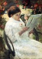 Woman Reading In A Garden mothers children Mary Cassatt
