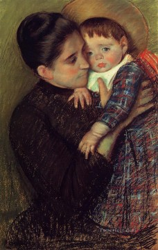 Mary Cassatt Painting - Woman and Her Child aka Helene de Septeuil mothers children Mary Cassatt