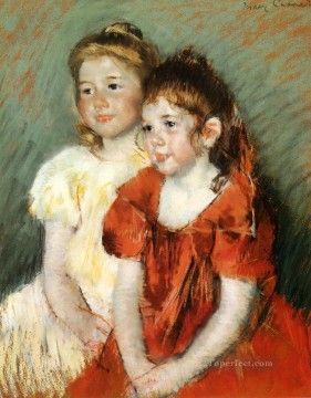 Girls Canvas - Young Girls mothers children Mary Cassatt