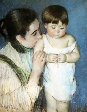 Mary Cassatt Painting - Young Thomas And His Mother mothers children Mary Cassatt