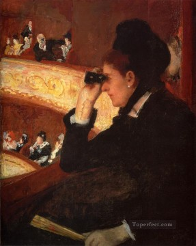 Mary Cassatt Painting - At The Opera mothers children Mary Cassatt