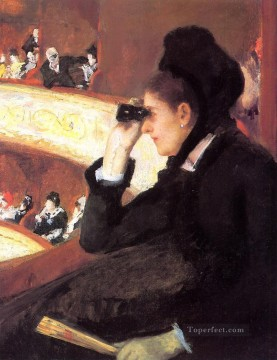 hero beijing opera jacky chen Painting - At the Francais a Sketch aka At the Opera mothers children Mary Cassatt