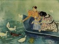 Feeding the Ducks mothers children Mary Cassatt