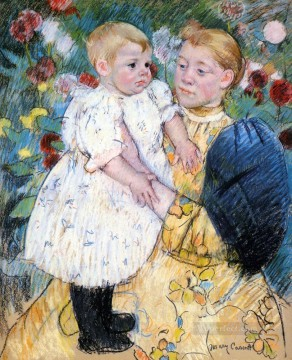 Mary Cassatt Painting - In The Garden mothers children Mary Cassatt