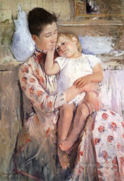 Mary Cassatt Painting - Mother And Child 1890 mothers children Mary Cassatt