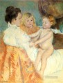 Mother Sara and the Baby counterproof mothers children Mary Cassatt