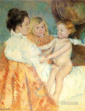 Mary Cassatt Painting - Mother Sara and the Baby counterproof mothers children Mary Cassatt