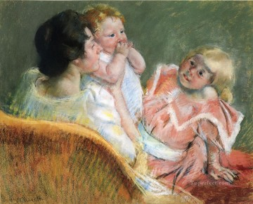 Mary Cassatt Painting - Mother and Children mothers children Mary Cassatt