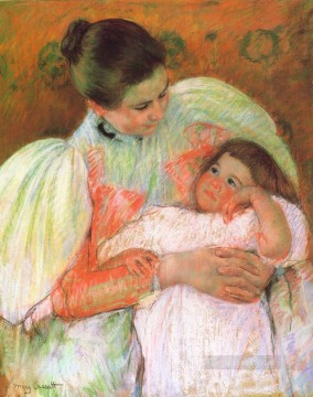 Mary Cassatt Painting - Nurse and Child mothers children Mary Cassatt