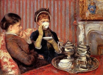 Mary Cassatt Painting - Tea mothers children Mary Cassatt
