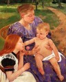 The Family mothers children Mary Cassatt