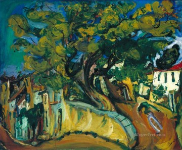 Chaim Soutine Painting - Cagnes Landscape with Tree Chaim Soutine