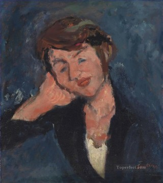 Polish Oil Painting - The Polish woman Chaim Soutine