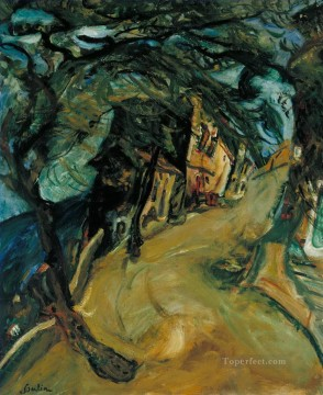 Chaim Soutine Painting - The Road up the Hill Chaim Soutine