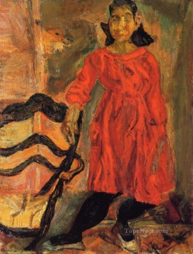 Chaim Soutine Painting - girl in red Chaim Soutine