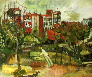 Chaim Soutine Painting - suburban landscape with red houses Chaim Soutine