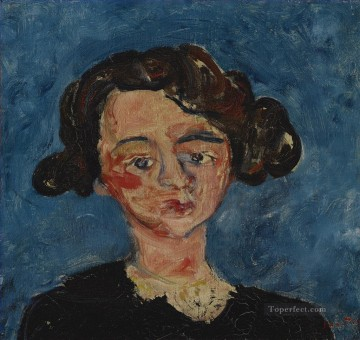 Artworks by 350 Famous Artists Painting - woman head Chaim Soutine