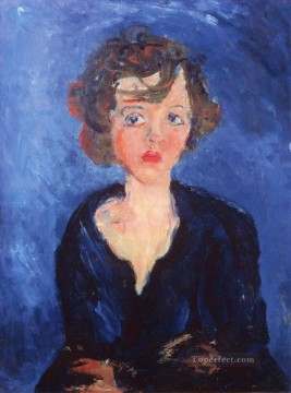 Polish Oil Painting - polish girl Chaim Soutine