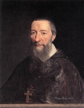 Pierre Works - Portrait of Bishop Jean Pierre Camus Philippe de Champaigne