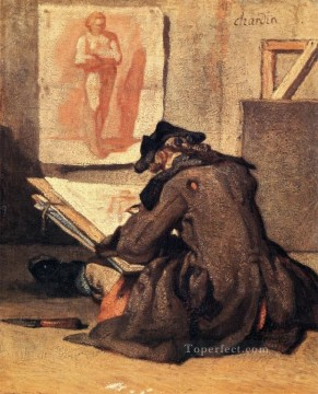 Draw Jean Baptiste Simeon Chardin Oil Paintings