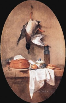 Duck still life Jean Baptiste Simeon Chardin Oil Paintings