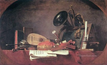 Music still life Jean Baptiste Simeon Chardin Oil Paintings