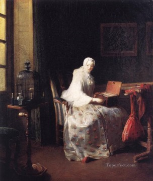 The Canary Jean Baptiste Simeon Chardin Oil Paintings