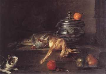 The Silver Turee still life Jean Baptiste Simeon Chardin Oil Paintings