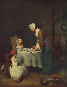 Jean Baptiste Simeon Chardin Painting - The Prayer before Me Jean Baptiste Simeon Chardin
