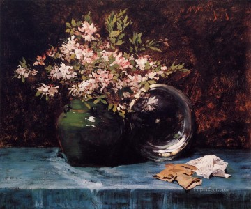 William Merritt Chase Painting - Azaleas flower William Merritt Chase