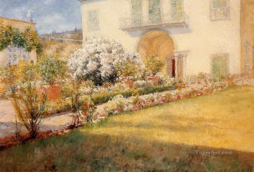 William Merritt Chase Painting - Florentine Villa William Merritt Chase