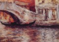 Gondolas Along Venetian Canal William Merritt Chase