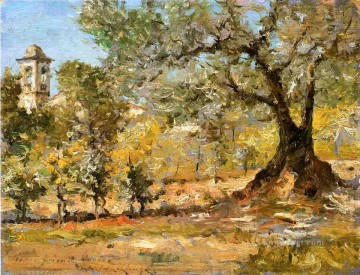 chase Oil Painting - Olive Trees Florence William Merritt Chase