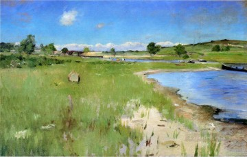 William Merritt Chase Painting - Shinnecock Hills from Canoe Place Long Island William Merritt Chase