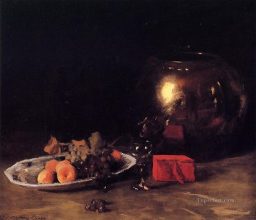 bowl Canvas - The Big Brass Bowl William Merritt Chase
