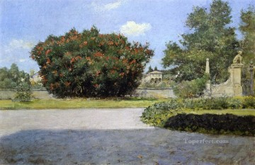 William Merritt Chase Painting - The Big Oleander William Merritt Chase