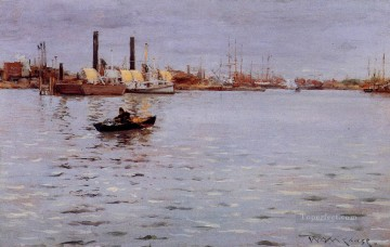 William Merritt Chase Painting - The East River William Merritt Chase