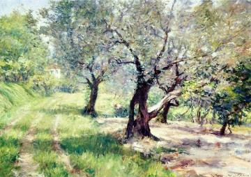 William Merritt Chase Painting - The Olive Grove William Merritt Chase