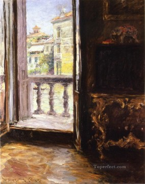 William Merritt Chase Painting - Venetian Balcony William Merritt Chase