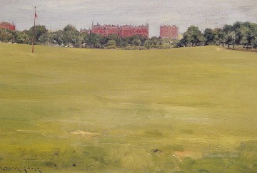 William Merritt Chase Painting - View from Central Park William Merritt Chase