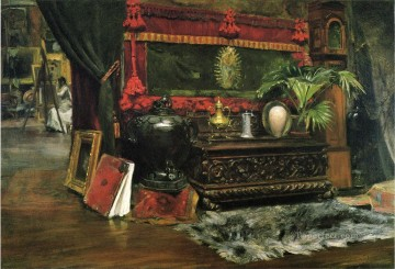 chase Oil Painting - A Corner of My Studio William Merritt Chase