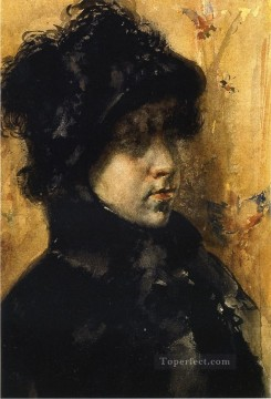 William Merritt Chase Painting - A Portrait Study William Merritt Chase